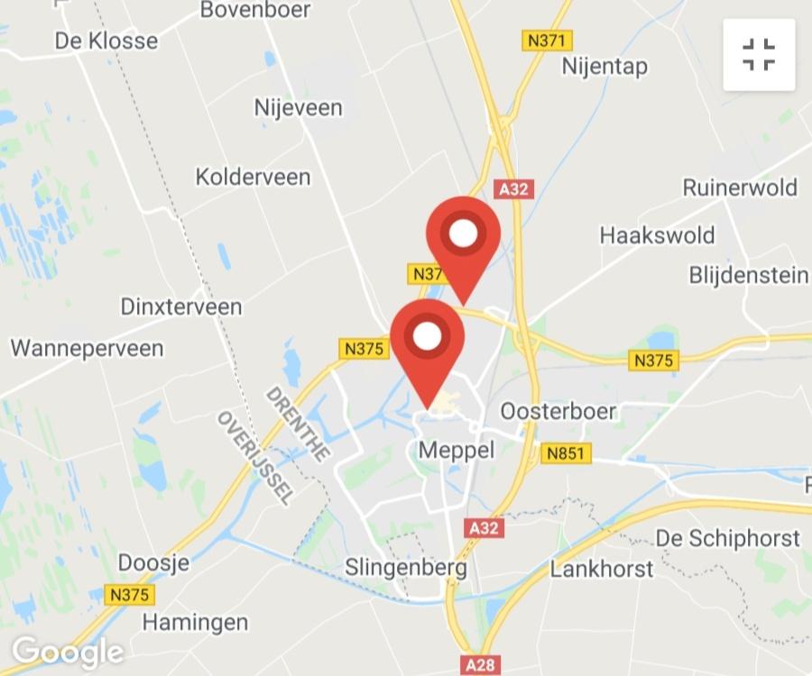 Kaart coronatest-meppel.com - Coronatest locaties Meppel